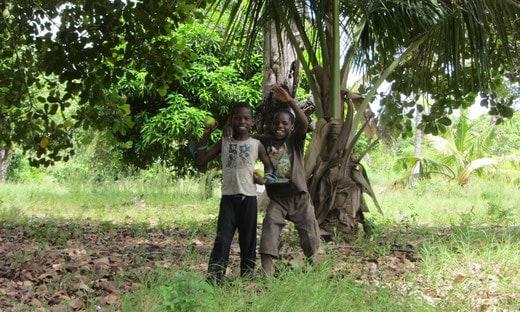The kid Kianga playing in Africa