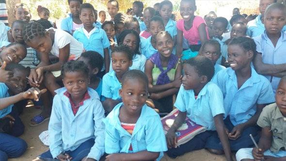 Kids at school in Africa